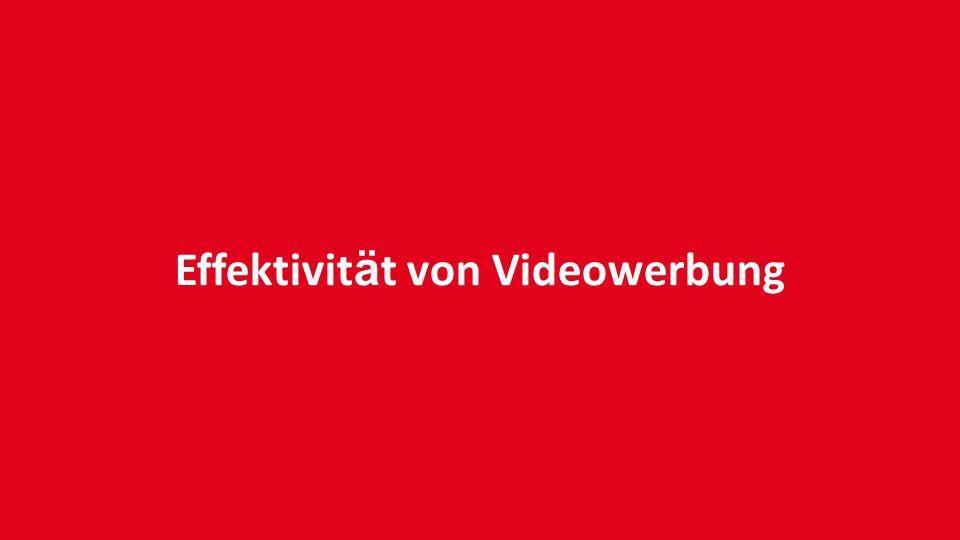 Effektivit ä t von Videowerbung