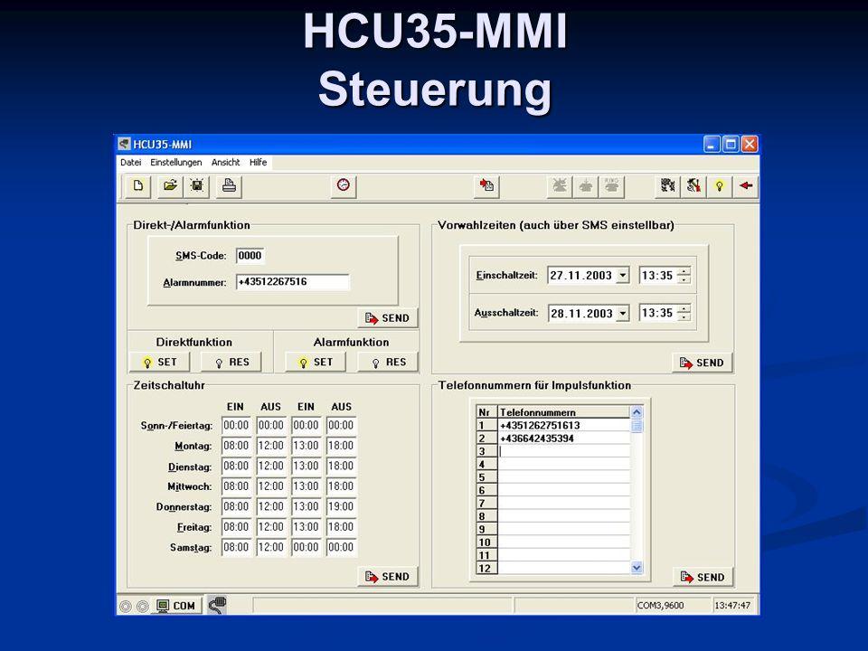 HCU35-MMI Steuerung