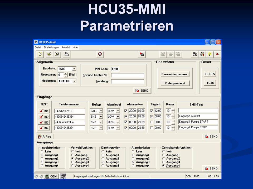 HCU35-MMI Parametrieren