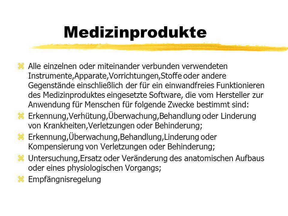 Terminologie Fiktive Arzneimittel med.-Technische Geräte (z.B.
