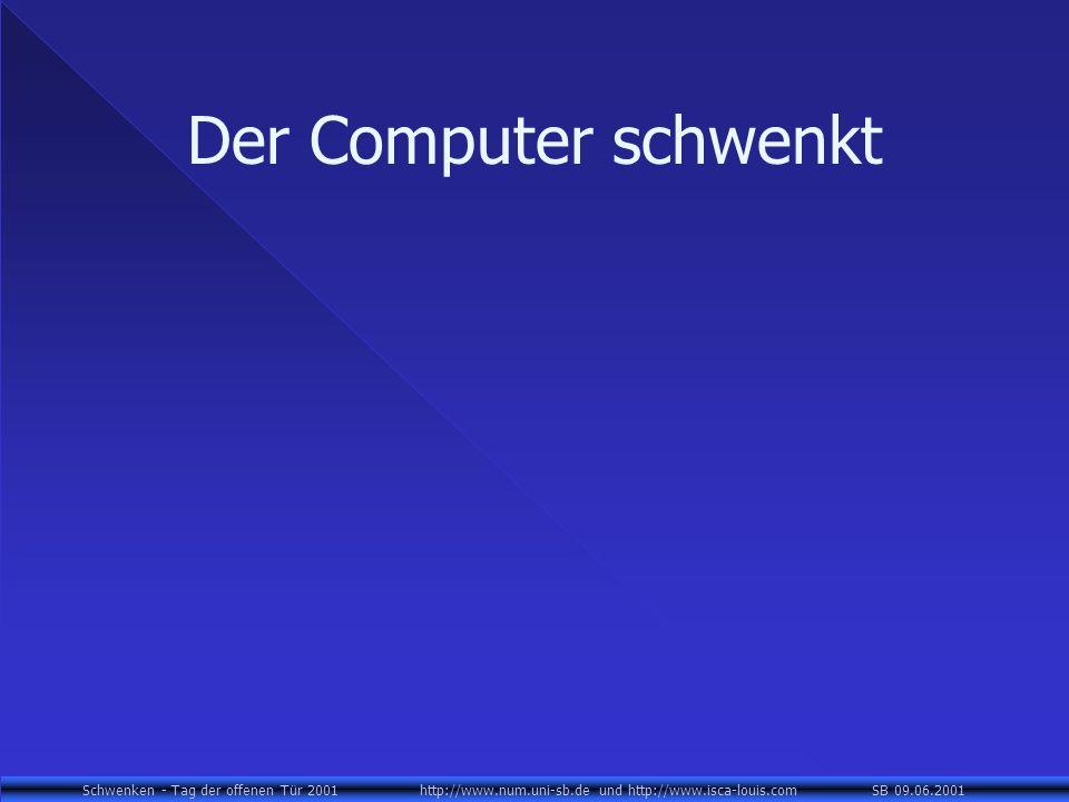 Schwenken - Tag der offenen Tür 2001 http://www.num.uni-sb.de und http://www.isca-louis.com SB 09.06.2001 Der Computer schwenkt