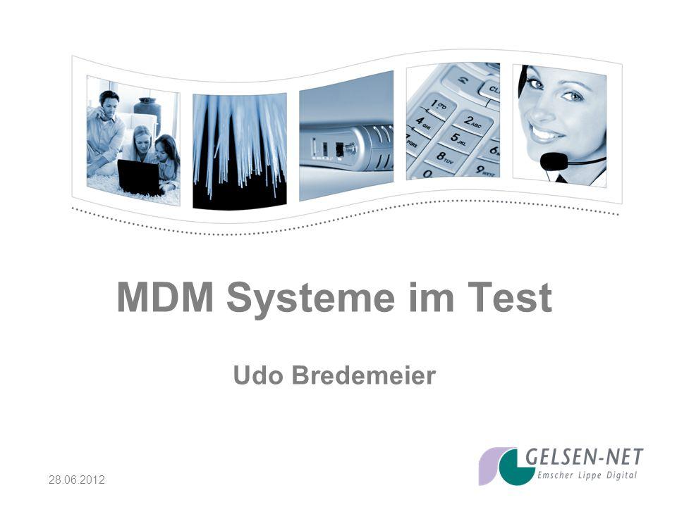 28.06.2012 MDM Systeme im Test Udo Bredemeier