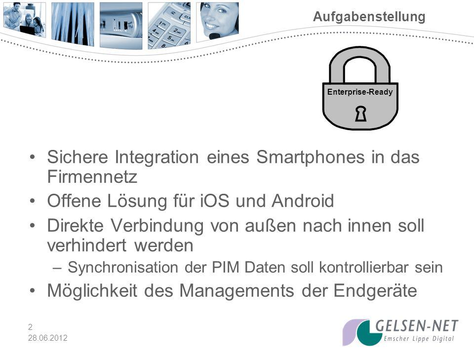 28.06.2012 3 Auswahl MobileIron AirWatch Good Technology Quelle: Gartner (Mai 2012)