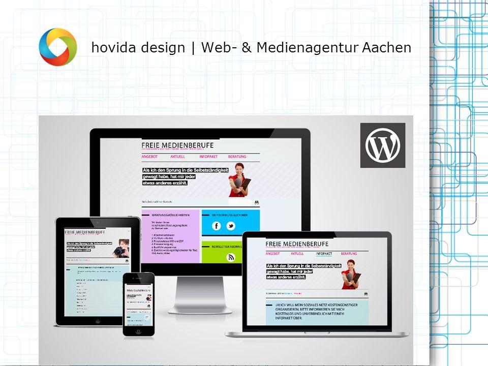 Über hovida design | Web- & Medienagentur Aachen: Die hovida design | Web- und Medienagentur, ist eine junge Entwicklungsschmiede für moderne Internetmedien mit Sitz in der Designmetropole Aachen.