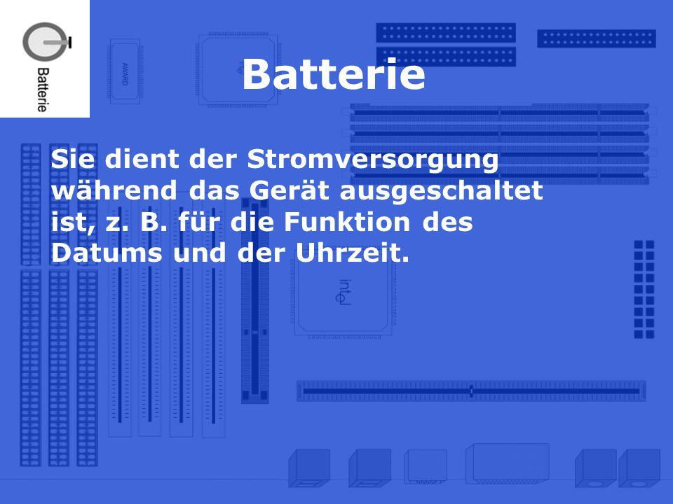 Batterie Sie dient der Stromversorgung während das Gerät ausgeschaltet ist, z. B. für die Funktion des Datums und der Uhrzeit.