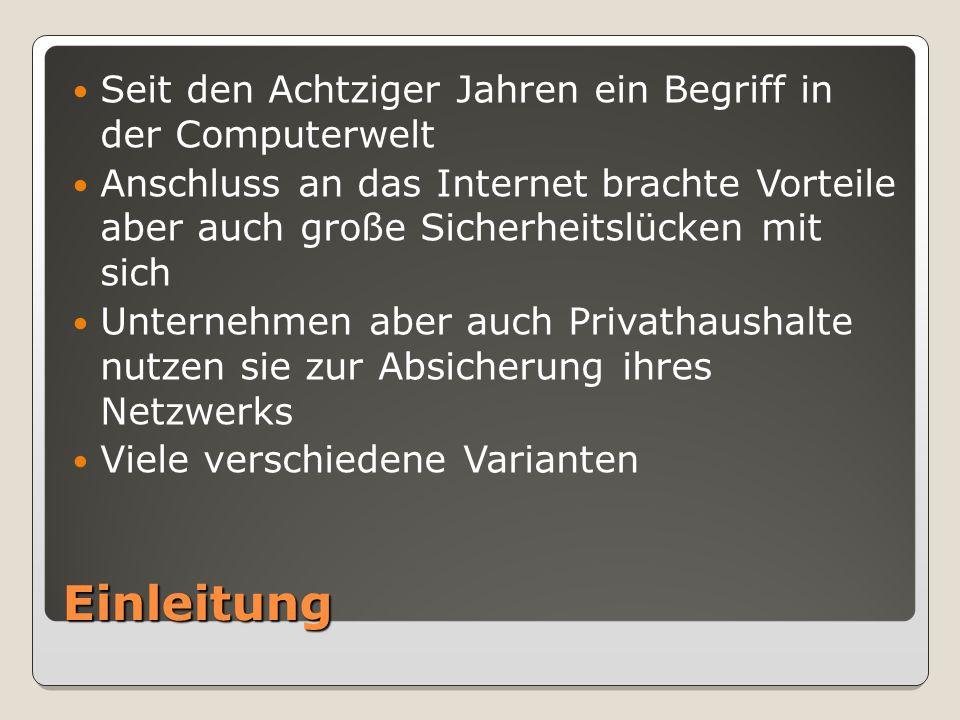 Was ist eine Firewall.