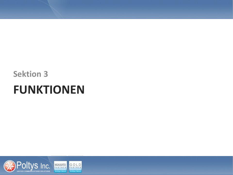 FUNKTIONEN Sektion 3