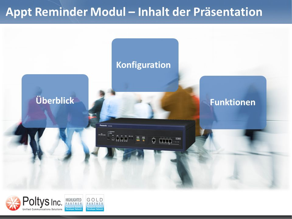 Terminanzeige Server starten Terminanzeige Server auf Poltys Appliance starten Klicken Sie auf die Schaltfläche Start