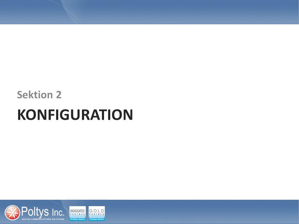 KONFIGURATION Sektion 2