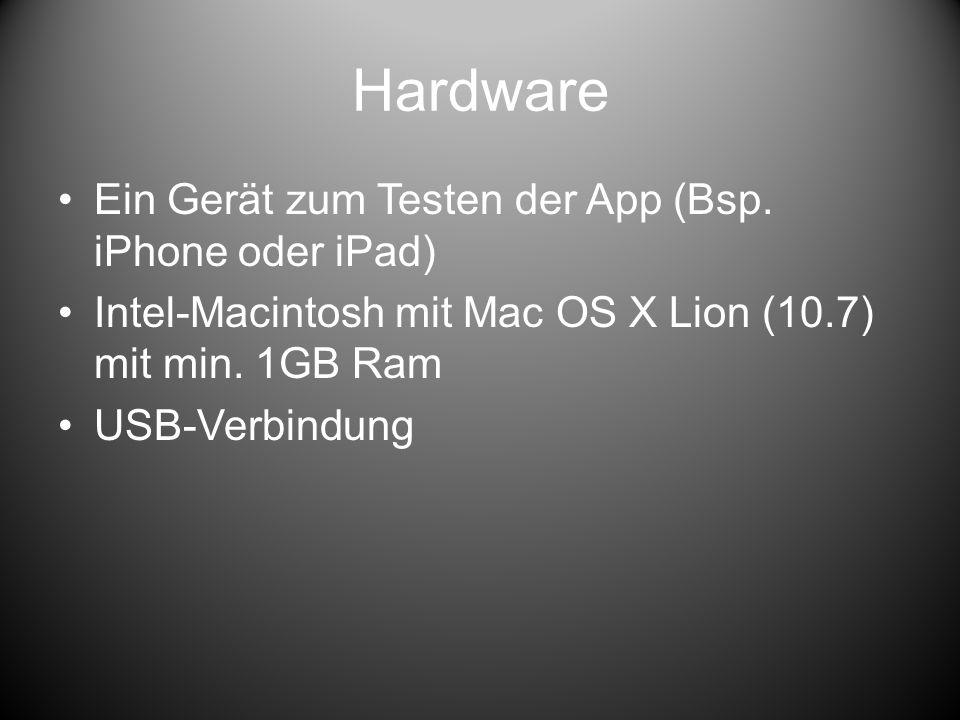 Software iOS SDK von Apple Kostenpunkt: 79/Jahr