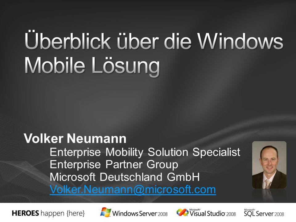 Volker Neumann Enterprise Mobility Solution Specialist Enterprise Partner Group Microsoft Deutschland GmbH Volker.Neumann@microsoft.com