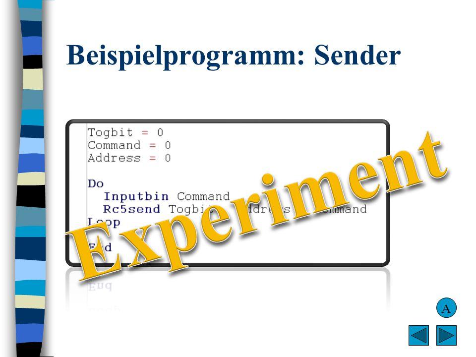 Beispielprogramm: Sender A