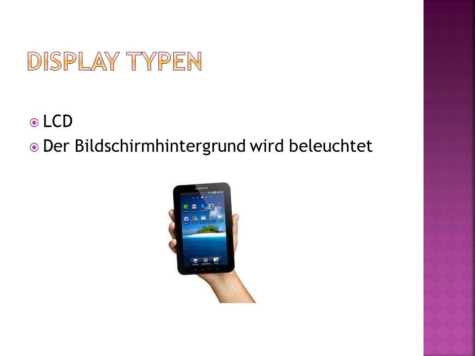 LCD Der Bildschirmhintergrund wird beleuchtet
