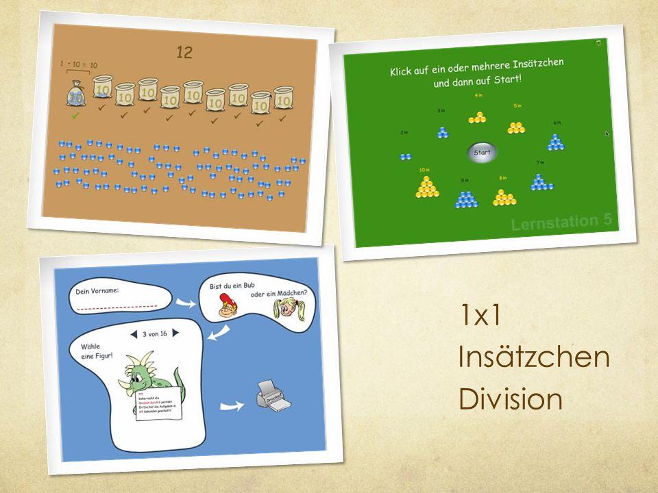 1x1 Insätzchen Division