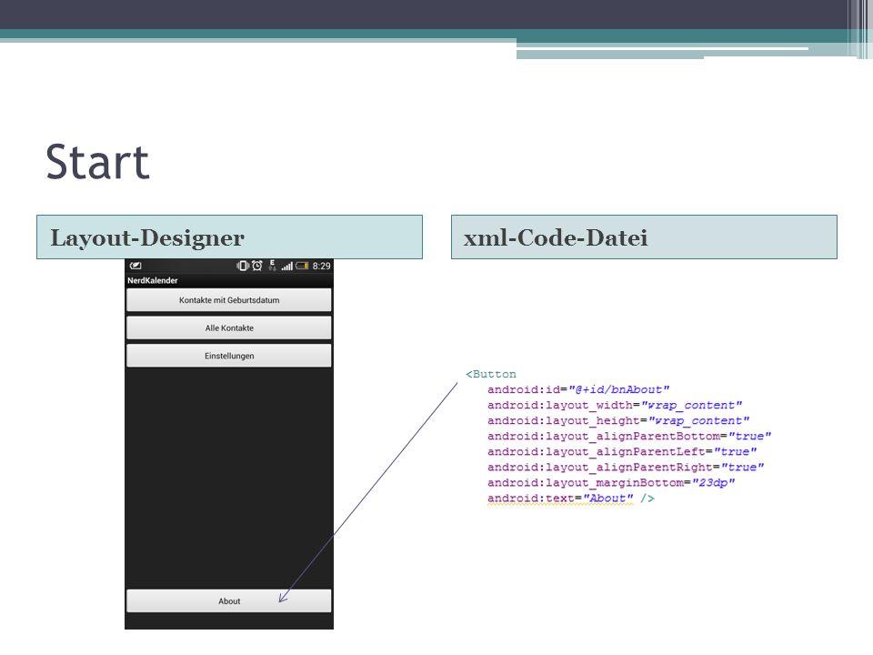 Start Layout-Designerxml-Code-Datei