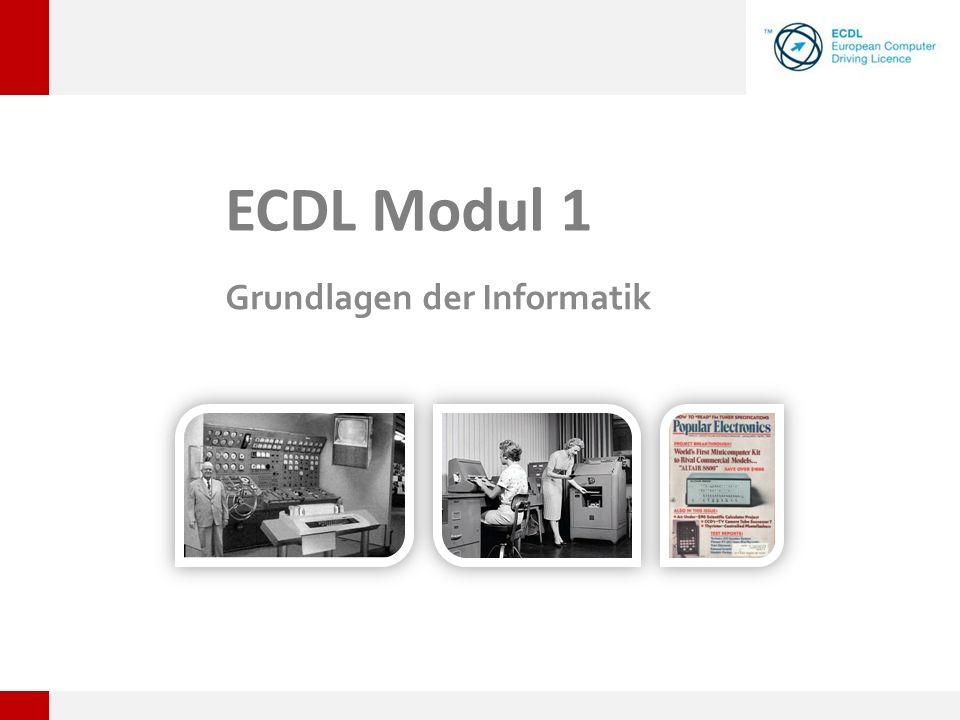 ECDL Modul 1 Grundlagen der Informatik