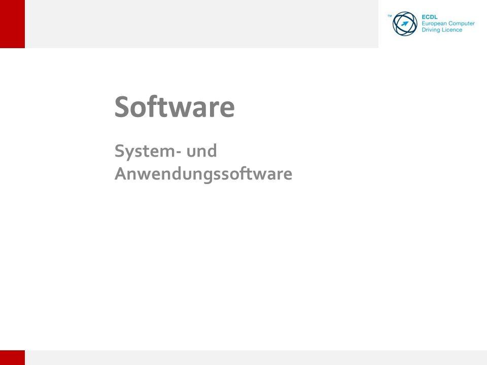 Software System- und Anwendungssoftware