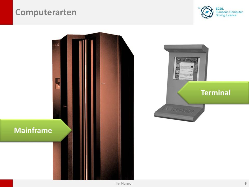 Computerarten Mainframe Terminal Ihr Name6