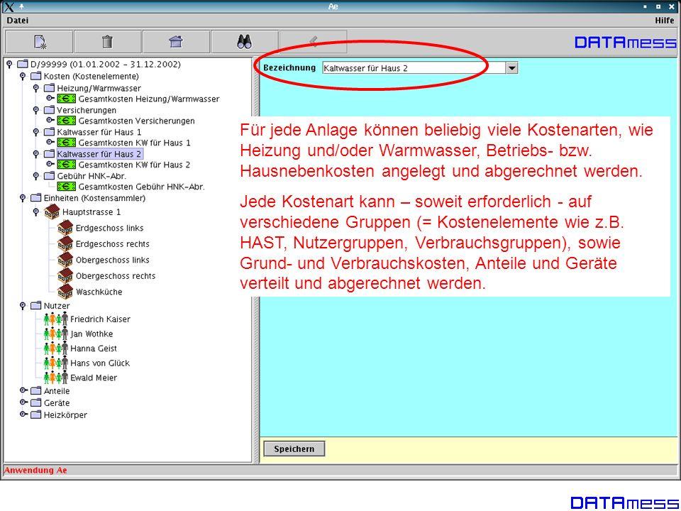 Jedem Nutzer können ein oder mehrere Nutzungen (Einheiten) zugeordnet werden.
