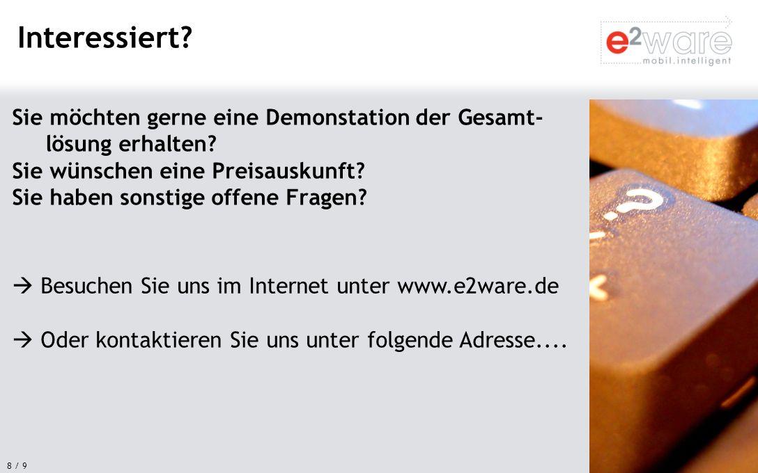 9 / 9 e²ware GmbH Maximilianstr.