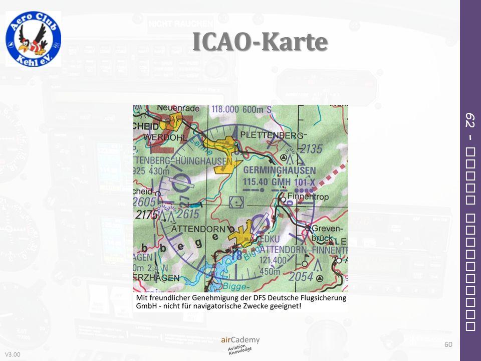 V3.00 62 – Radio Navigation ICAO-Karte 60