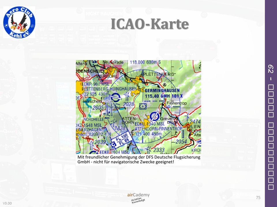V3.00 62 – Radio Navigation ICAO-Karte 75