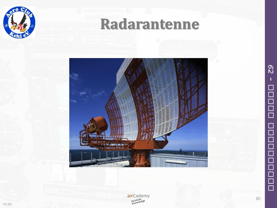 V3.00 62 – Radio Navigation Radarantenne 80