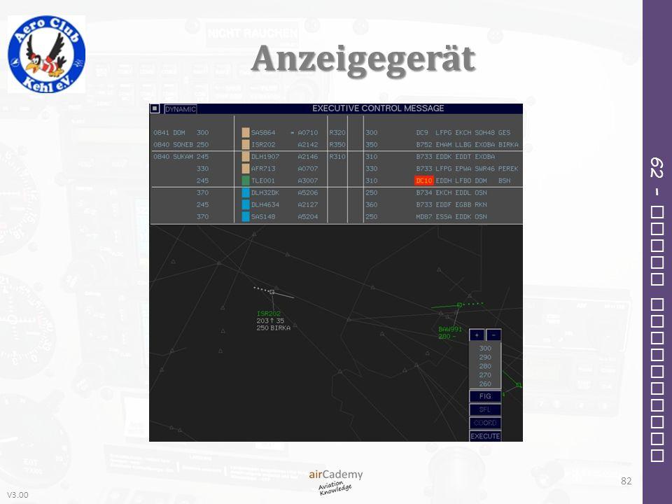 V3.00 62 – Radio Navigation Anzeigegerät 82