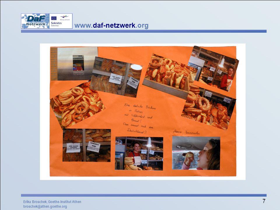 www.daf-netzwerk.org 38 Ein Deutsch-Gedicht Zum Frühstück kriege ich auf den Teller Eine Scheibe Vollkornbrot mit Nutella.