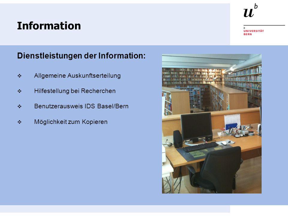 Ausleihbedingungen Die Bibliothek vereinigt die Bestände der Departements für Wirtschaftsinformatik und Angewandte Mathematik Die Bestände der Bibliothek für Wirtschaftsinformatik (Signatur IWI) können selbständig vor Ort benutzt werden, Aus- oder Fernleihe ist nicht möglich.