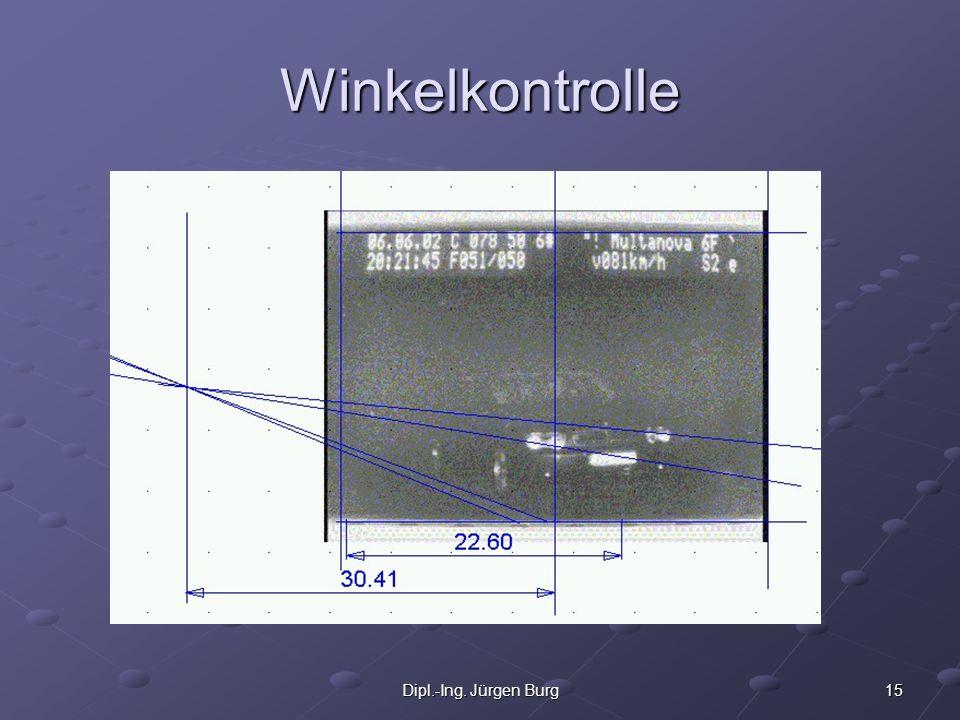 15Dipl.-Ing. Jürgen Burg Winkelkontrolle