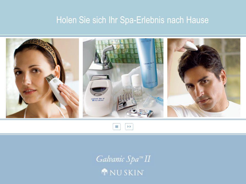 Die Nu Skin® Galvanic Spa Facial Gels mit der NEUEN ageLOC Technologie Für jugendliche, strahlende Haut Nu Skin® Galvanic Spa Pre-Treatment und Treatment Gel befreien die Haut von Unreinheiten, während sie gleichzeitig gepflegt und belebt wird.