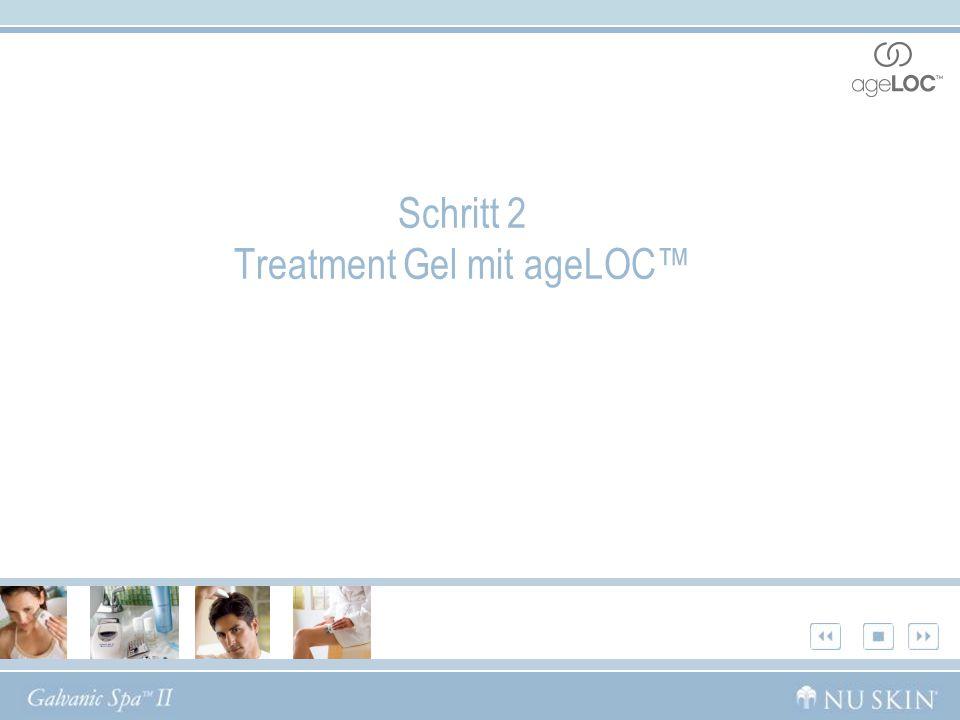 Schritt 2 Treatment Gel mit ageLOC