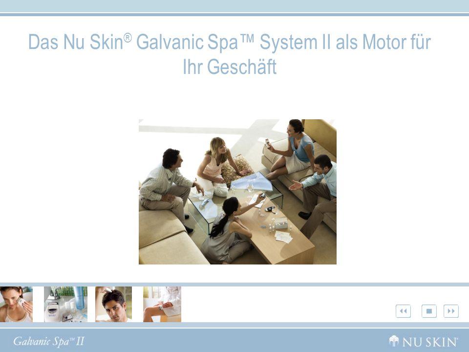 Das Nu Skin ® Galvanic Spa System II als Motor für Ihr Geschäft