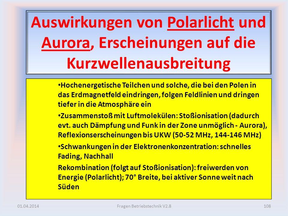 Auswirkungen von Polarlicht und Aurora, Erscheinungen auf die Kurzwellenausbreitung Hochenergetische Teilchen und solche, die bei den Polen in das Erd