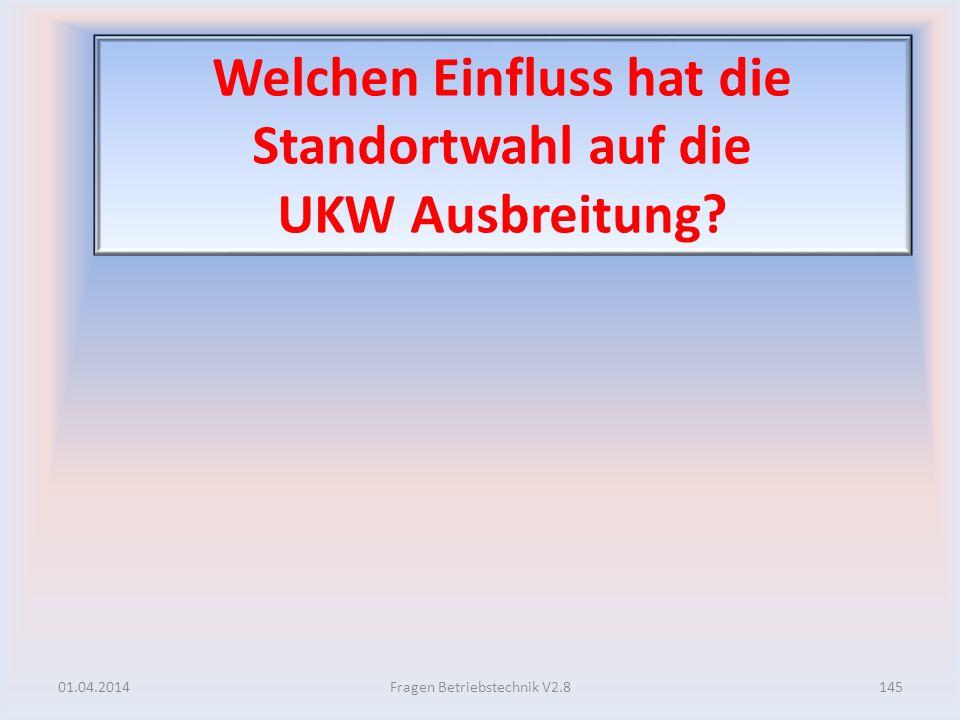 Welchen Einfluss hat die Standortwahl auf die UKW Ausbreitung? 01.04.2014145Fragen Betriebstechnik V2.8