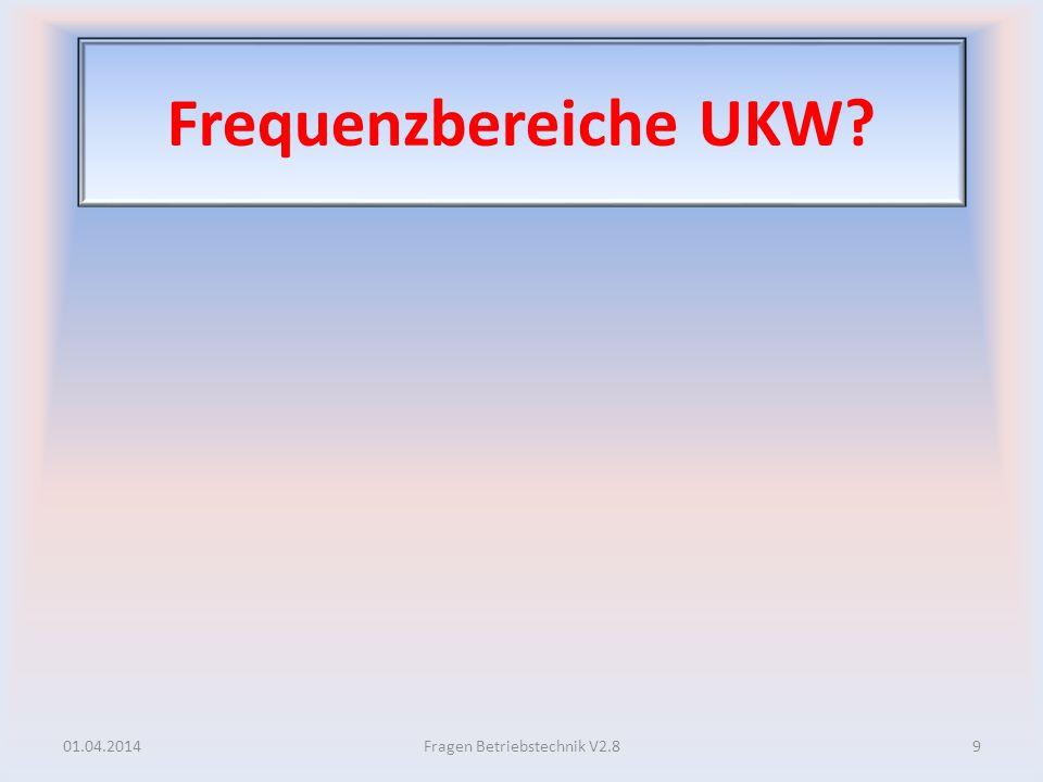 Frequenzbereiche UKW.