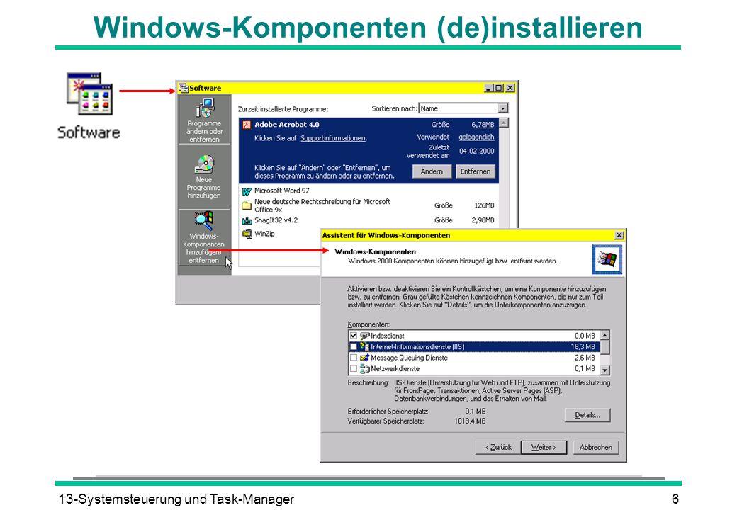 13-Systemsteuerung und Task-Manager6 Windows-Komponenten (de)installieren