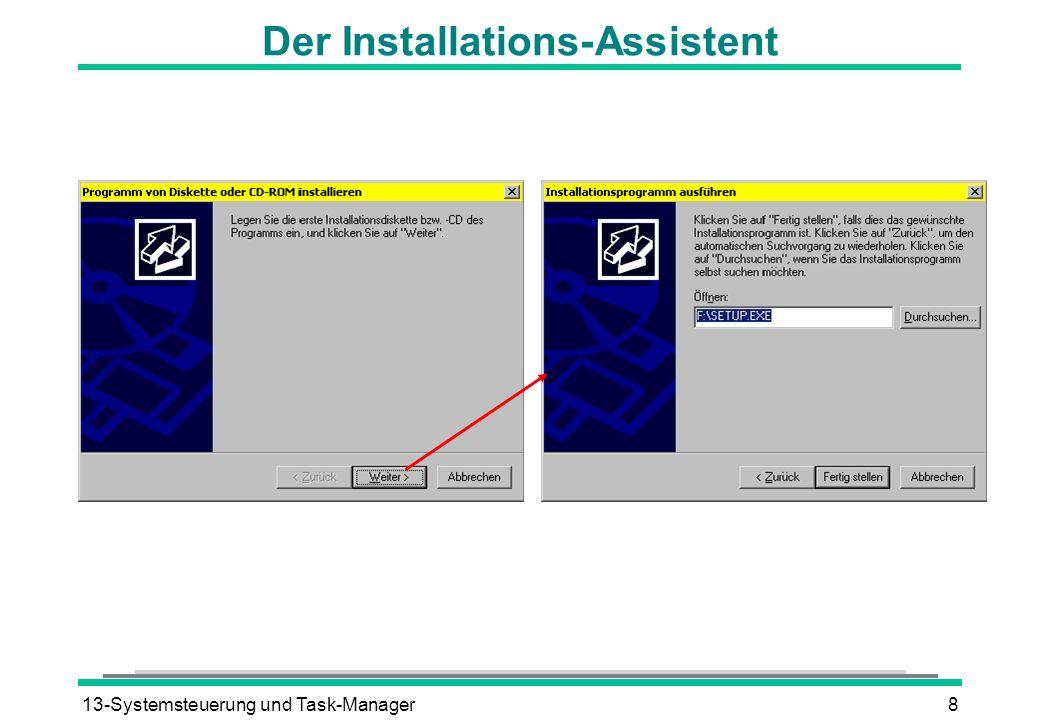 13-Systemsteuerung und Task-Manager8 Der Installations-Assistent