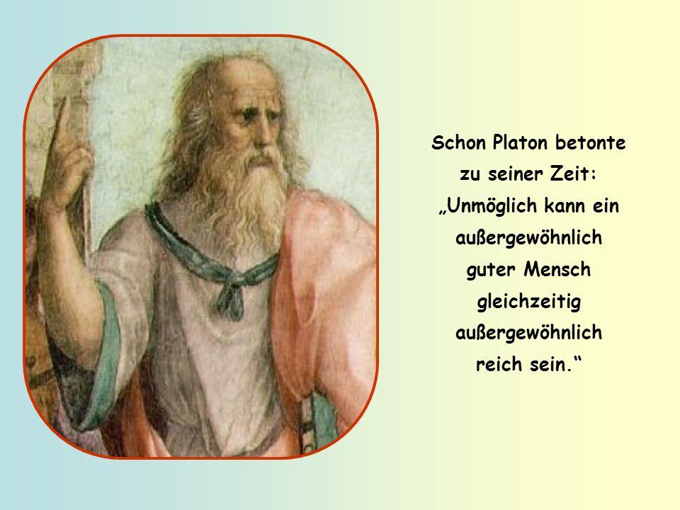 Deshalb schreibt der Apostel Paulus: Wer aber reich werden will, gerät in Versuchungen und Schlingen, er verfällt vielen sinnlosen und schädlichen Beg
