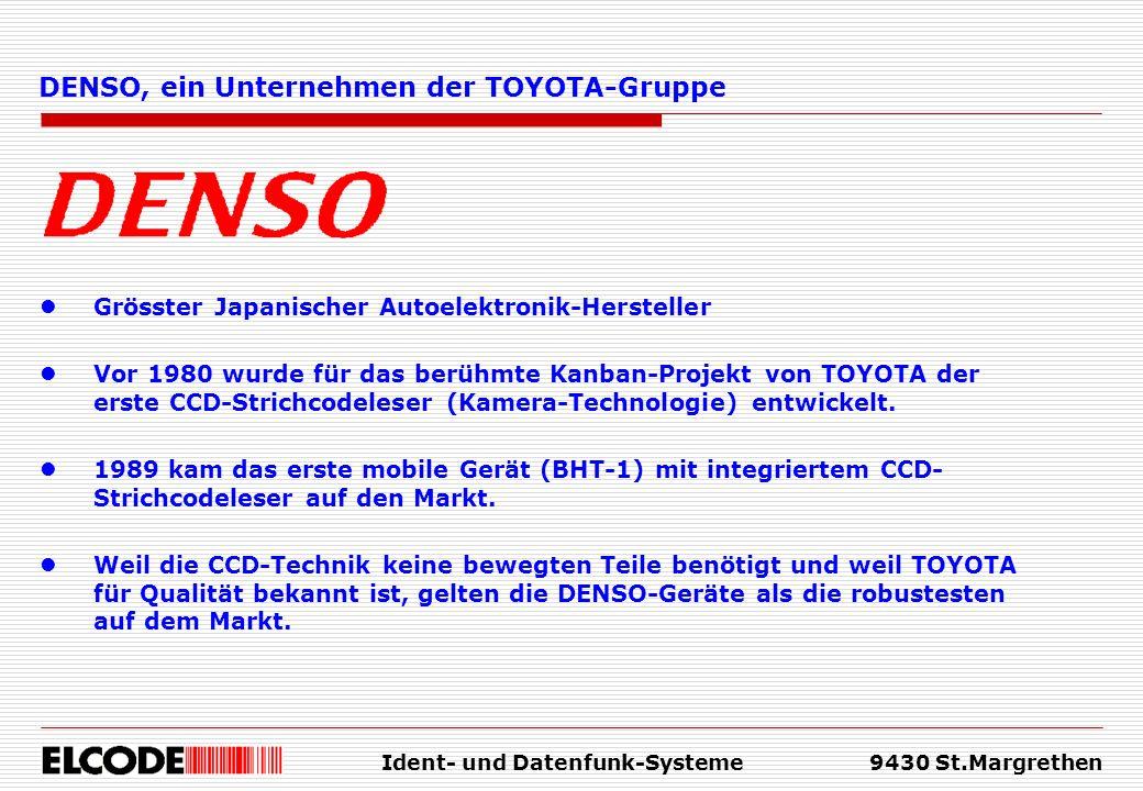 Ident- und Datenfunk-Systeme9430 St.Margrethen Grösster Japanischer Autoelektronik-Hersteller Vor 1980 wurde für das berühmte Kanban-Projekt von TOYOT
