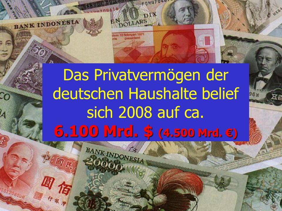 D : USA C : EU B : BRD Die Verschuldung der Entwicklungsländer ist geringer als das Vermögen der privaten Haushalte von A : Österreich Dritte Welt Qui
