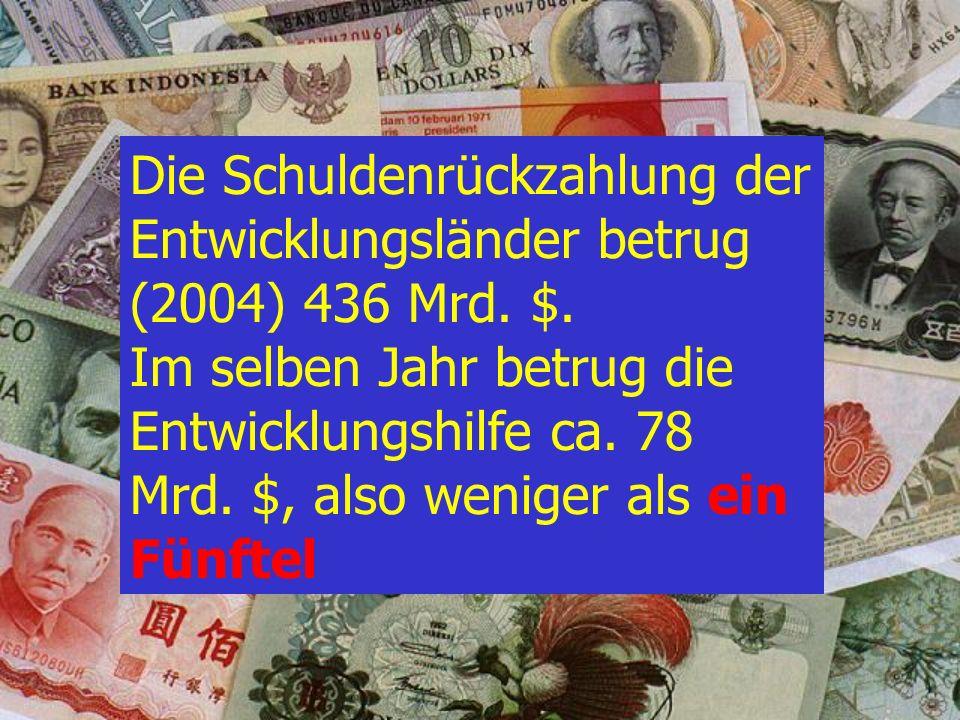 D : 1:5 C : 1:1 B : 2:1 In welchem Verhältnis stehen Entwicklungshilfe und Schuldendienst zueinander A : 7:1 Dritte Welt Quiz