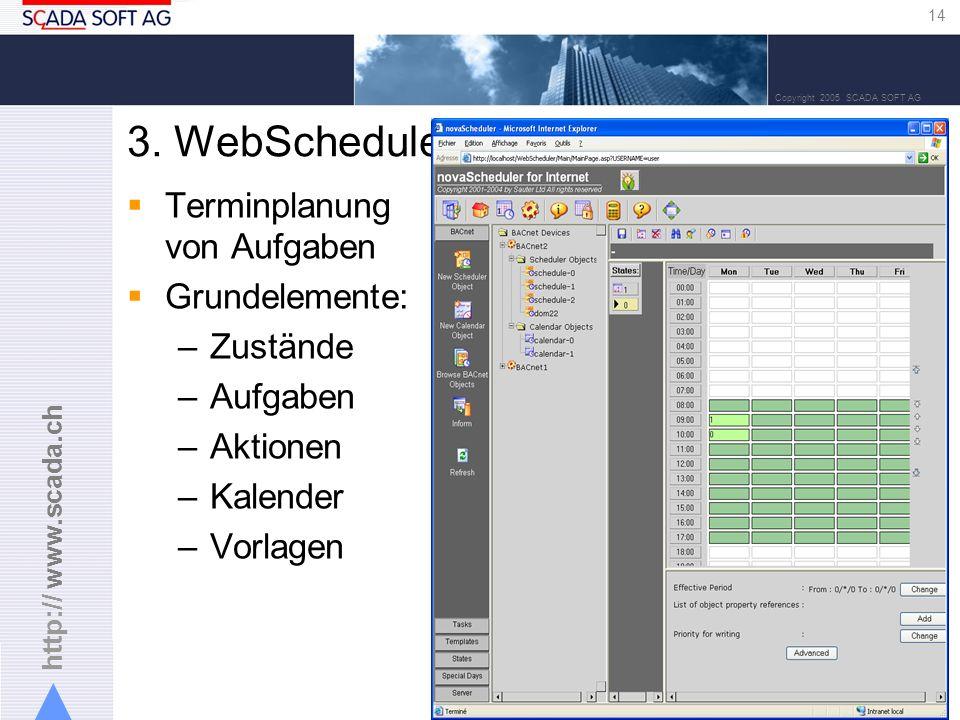 http:// www.scada.ch 14 Copyright 2005 SCADA SOFT AG 3.