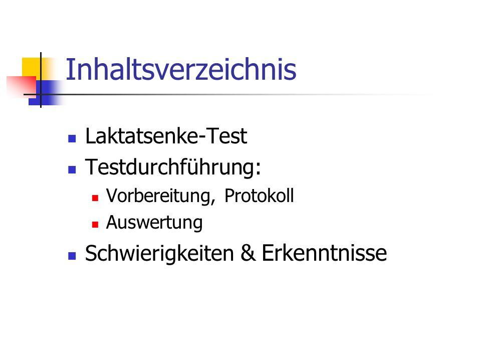 Laktatsenke-Test Was testet der Test.