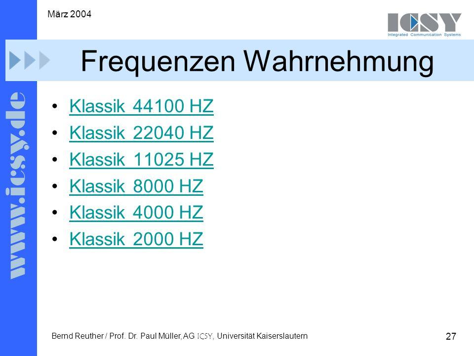 27 März 2004 Bernd Reuther / Prof. Dr.