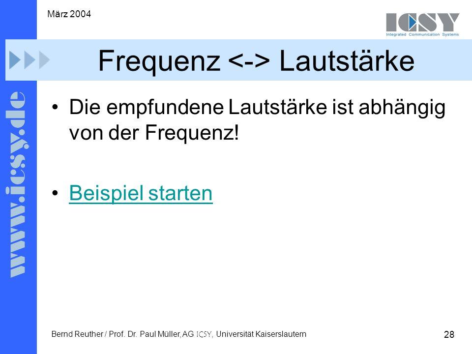28 März 2004 Bernd Reuther / Prof. Dr.