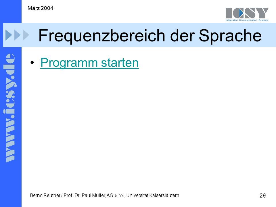 29 März 2004 Bernd Reuther / Prof. Dr.