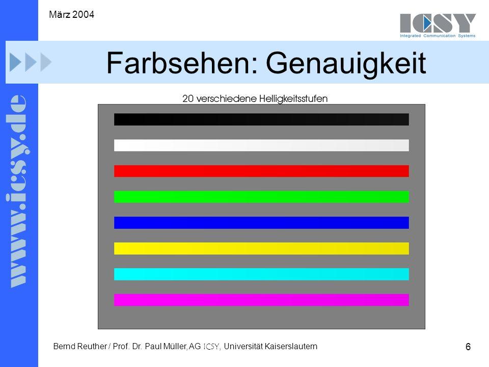 6 März 2004 Bernd Reuther / Prof. Dr.