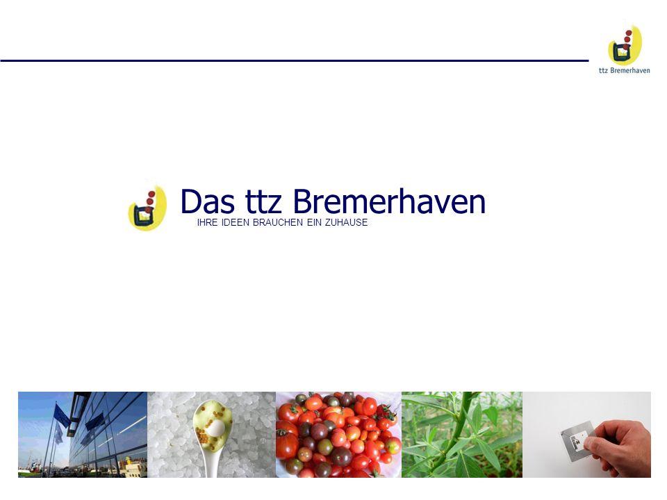 Das ttz Bremerhaven IHRE IDEEN BRAUCHEN EIN ZUHAUSE